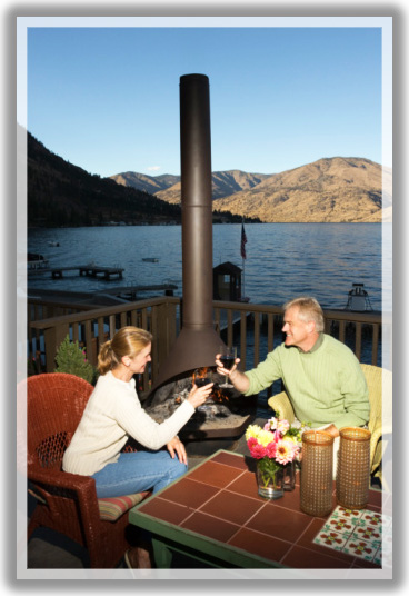 outdoor deck fireplaces. provide warmth on cool nights by including an outdoor fireplace. much like a water feature, fireplace provides romantic elegance to cooler evenings, deck fireplaces
