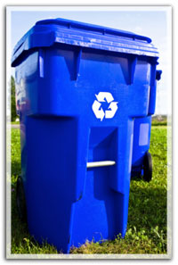 Large roll-out recycle bin.